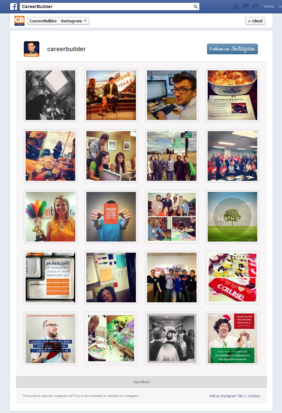 Example Instagram Feed