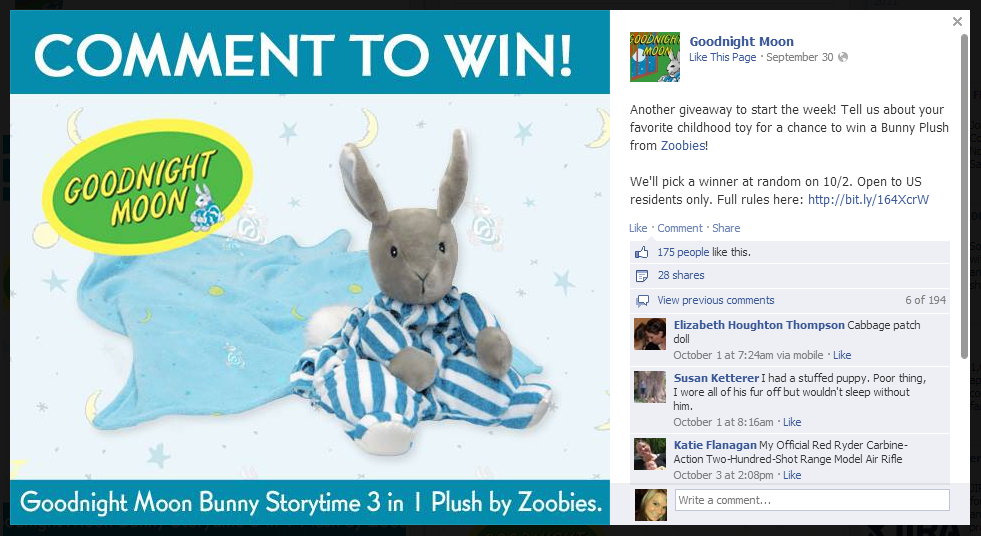 how to run a like and share competition on facebook