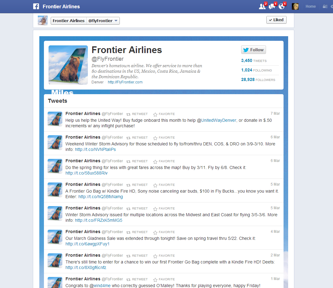 Example Twitter Feed